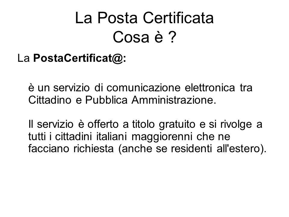 La Posta Certificata Cosa è