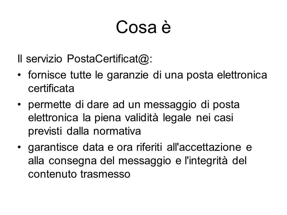 Cosa è Il servizio PostaCertificat@: