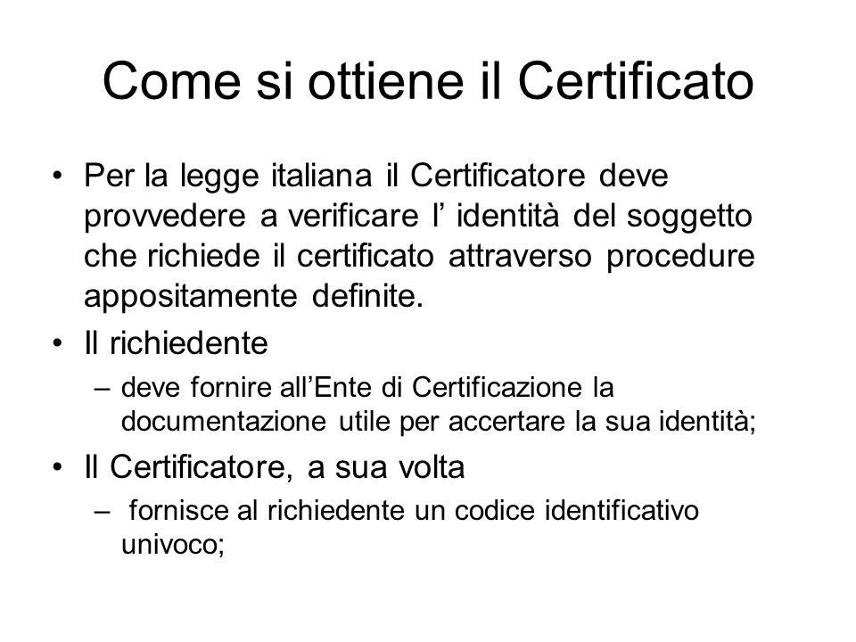Come si ottiene il Certificato