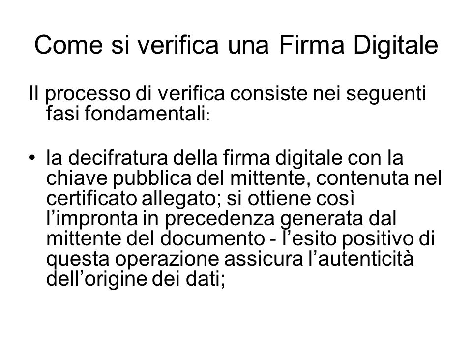 Come si verifica una Firma Digitale