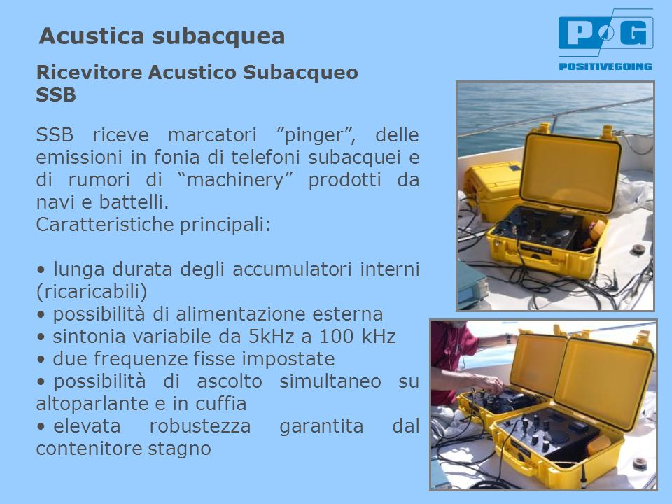Acustica subacquea Ricevitore Acustico Subacqueo SSB