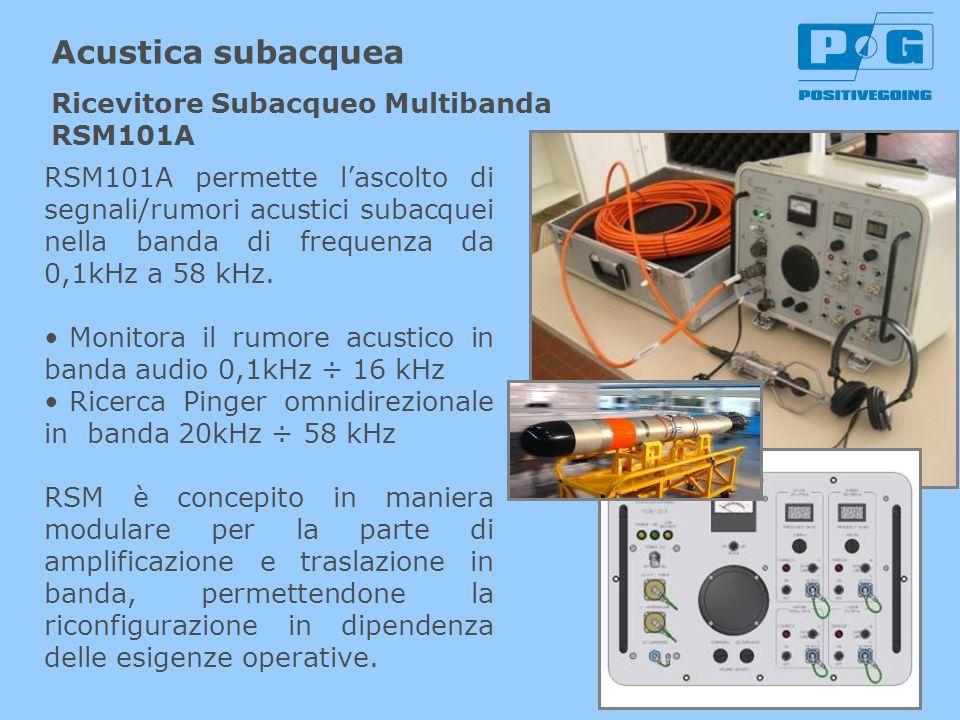 Acustica subacquea Ricevitore Subacqueo Multibanda RSM101A