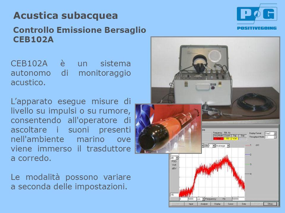 Acustica subacquea Controllo Emissione Bersaglio CEB102A