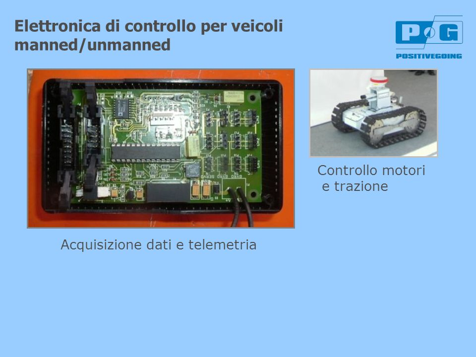 Elettronica di controllo per veicoli manned/unmanned