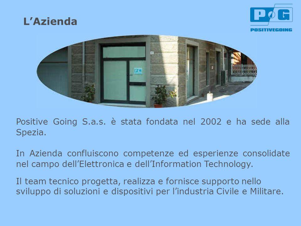 L'Azienda Positive Going S.a.s. è stata fondata nel 2002 e ha sede alla Spezia.