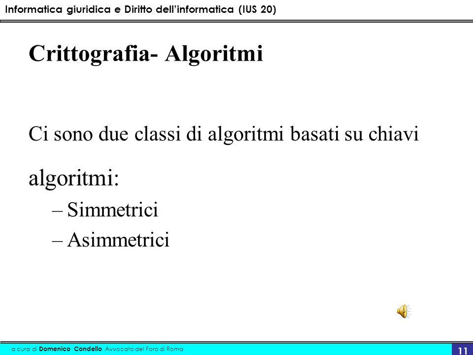 Crittografia- Algoritmi