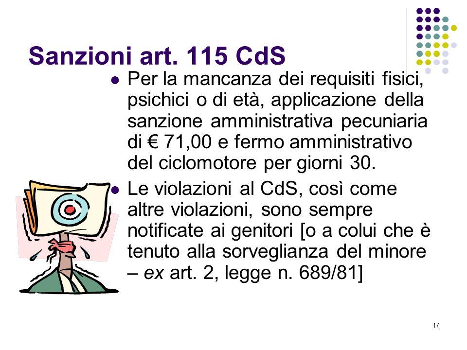 Sanzioni art. 115 CdS