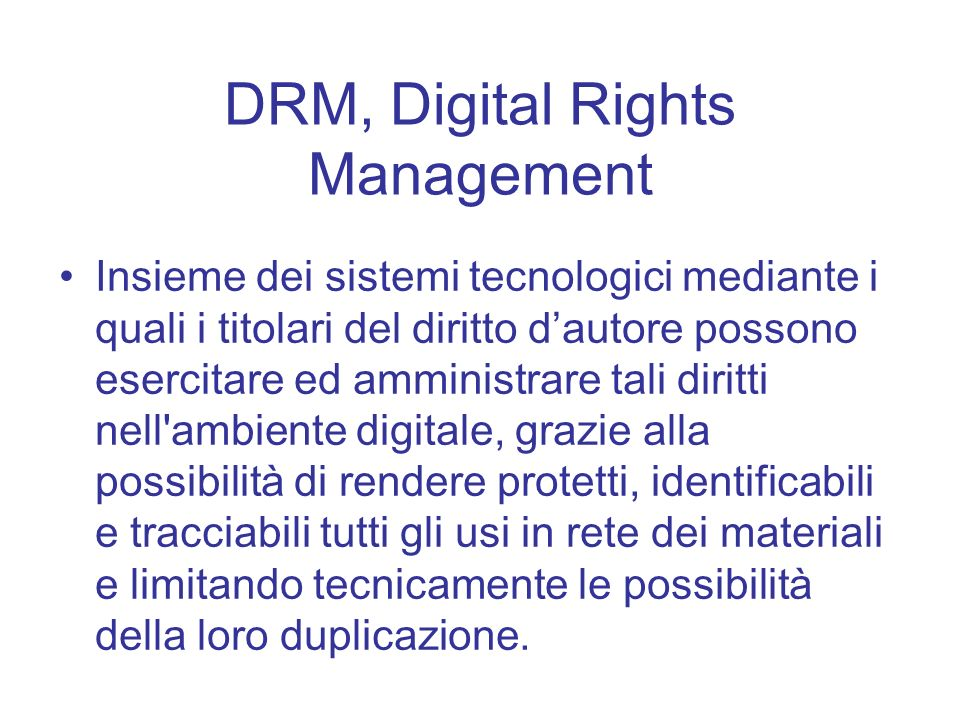 DRM, Digital Rights Management