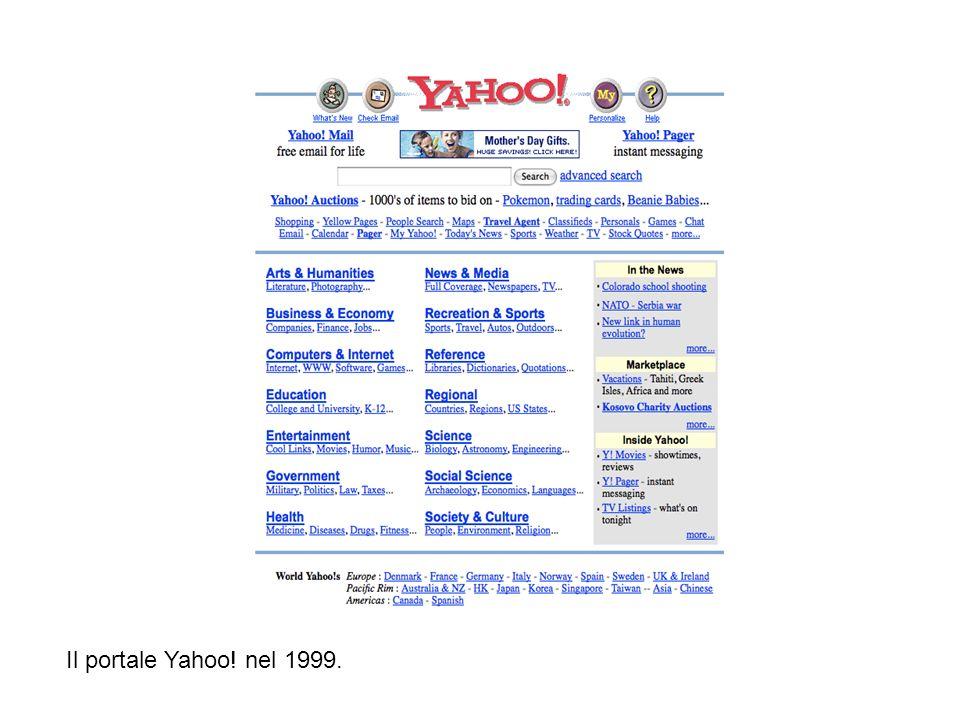 Il portale Yahoo! nel 1999. Il portale Yahoo! nel 1999.