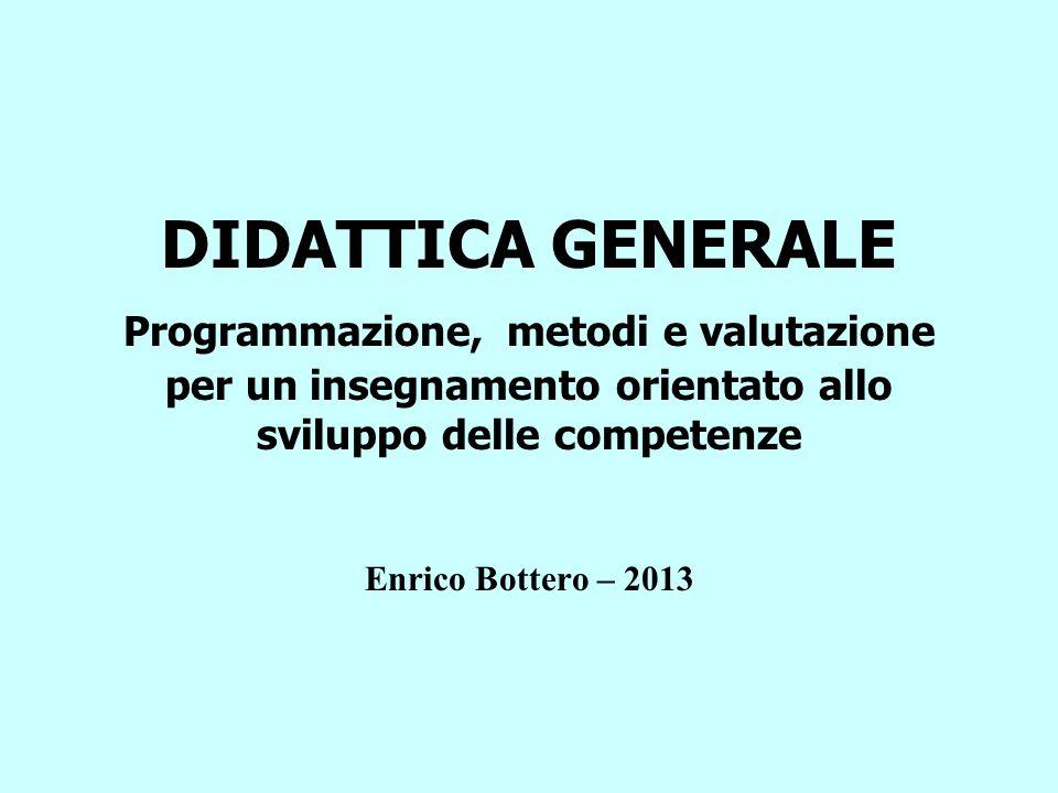 DIDATTICA GENERALE Programmazione, metodi e valutazione per un insegnamento orientato allo sviluppo delle competenze