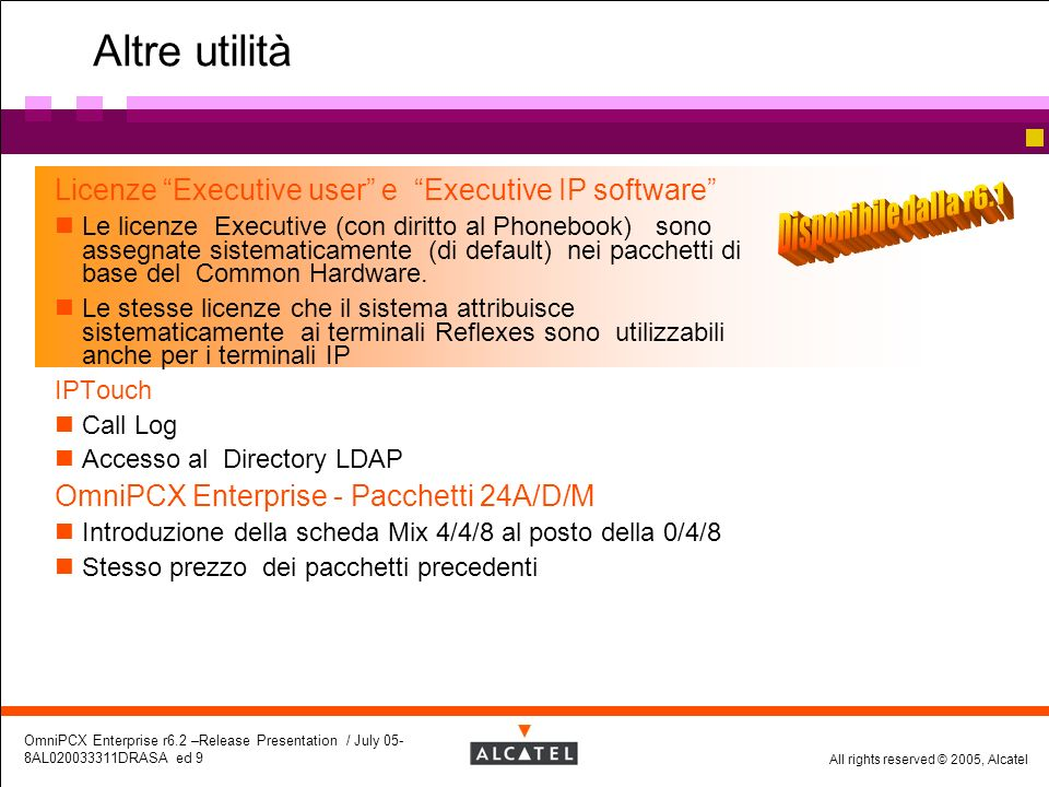 Altre utilità Licenze Executive user e Executive IP software