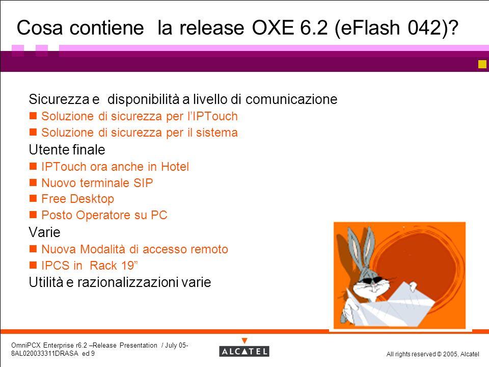 Cosa contiene la release OXE 6.2 (eFlash 042)