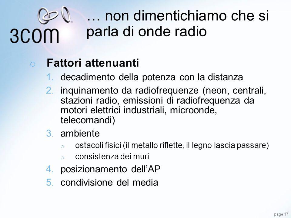 … non dimentichiamo che si parla di onde radio