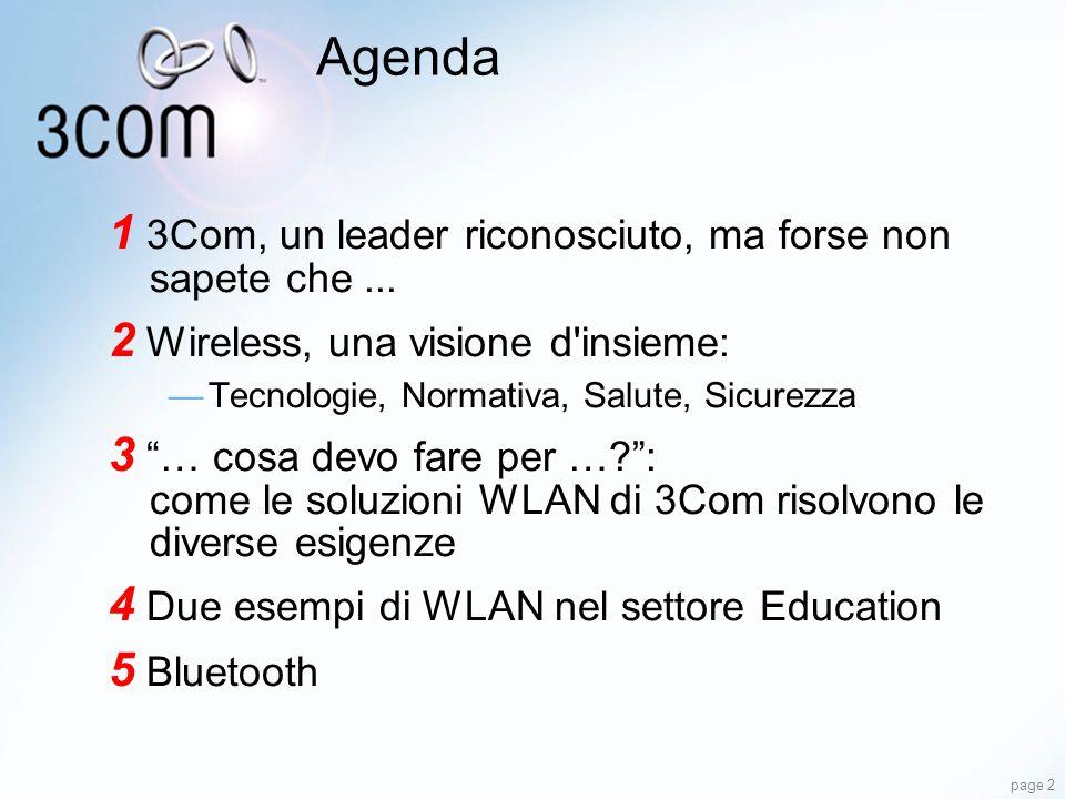 Agenda 1 3Com, un leader riconosciuto, ma forse non sapete che ...