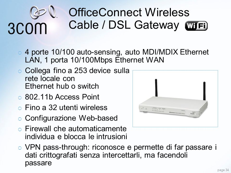 OfficeConnect Wireless Cable / DSL Gateway