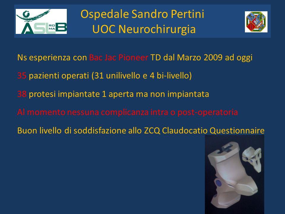 Ospedale Sandro Pertini UOC Neurochirurgia