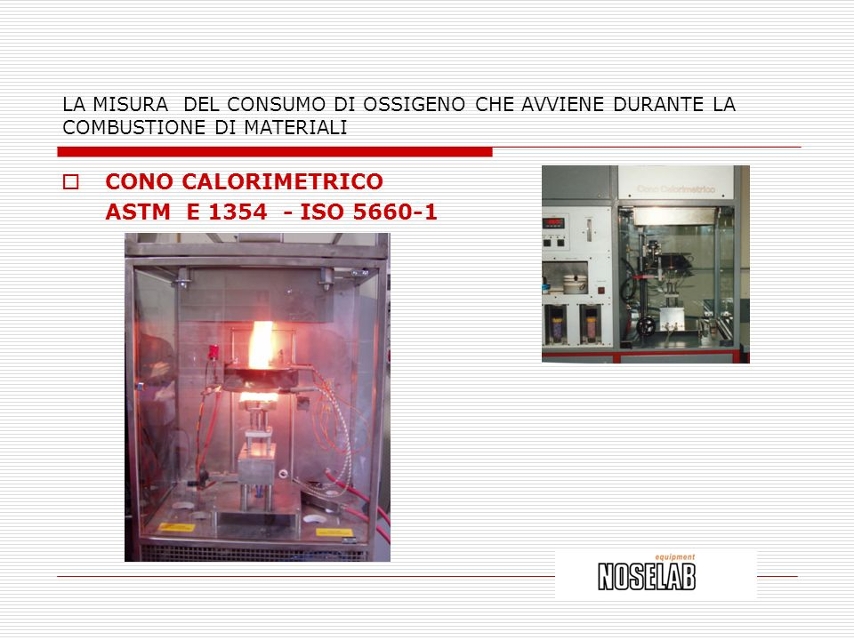 CONO CALORIMETRICO ASTM E 1354 - ISO 5660-1