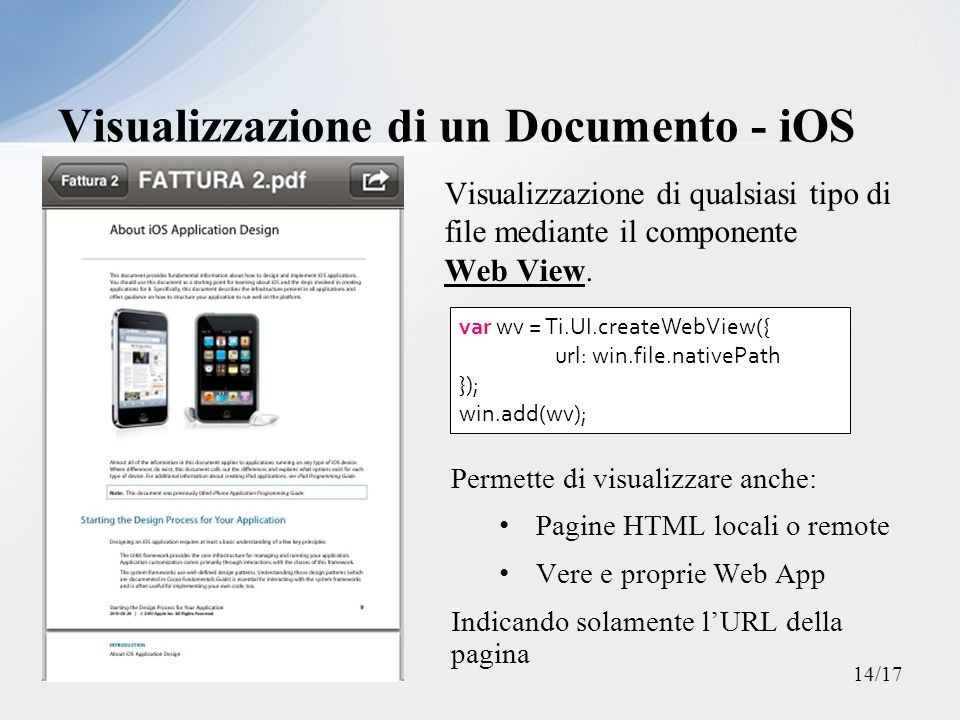 Visualizzazione di un Documento - iOS