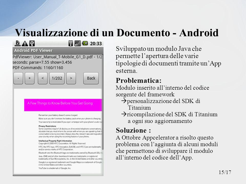 Visualizzazione di un Documento - Android