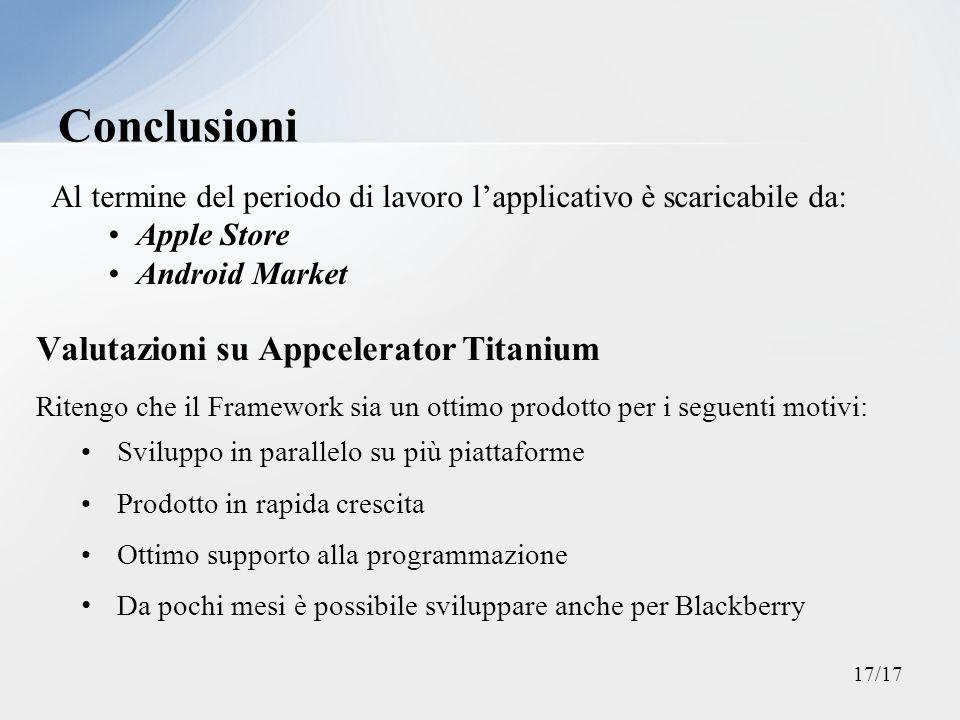 Conclusioni Valutazioni su Appcelerator Titanium