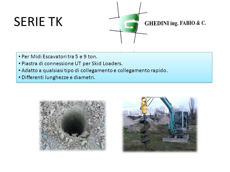 SERIE TK Per Midi Escavatori tra 5 e 9 ton.
