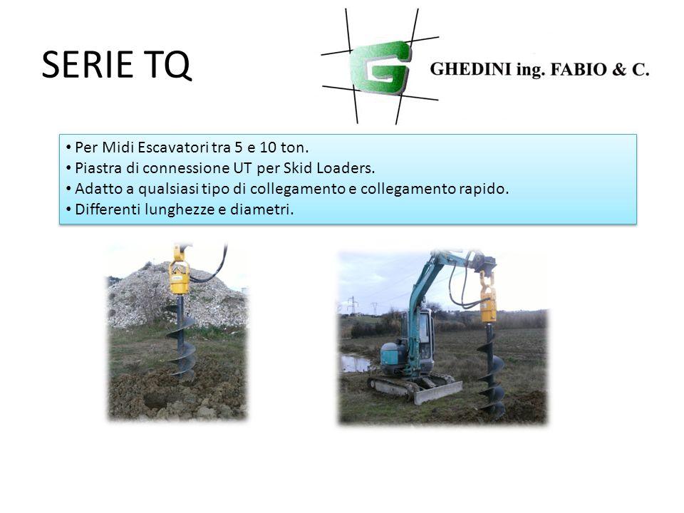 SERIE TQ Per Midi Escavatori tra 5 e 10 ton.