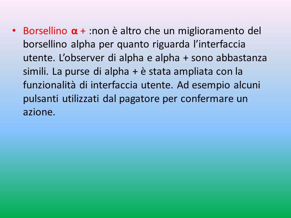 Borsellino α + :non è altro che un miglioramento del borsellino alpha per quanto riguarda l'interfaccia utente.