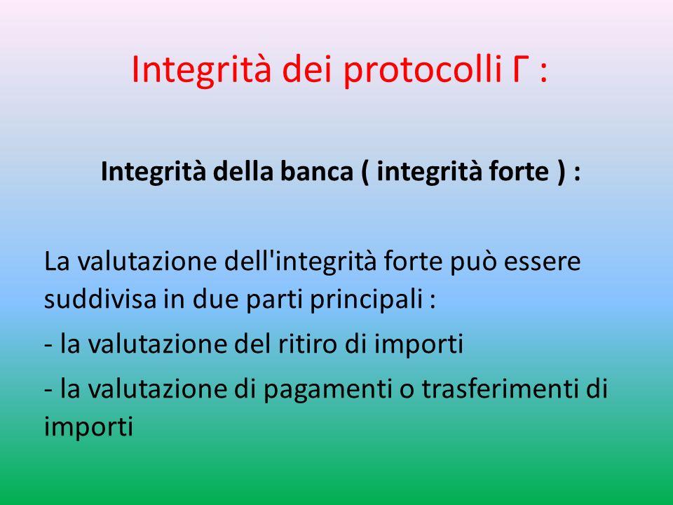 Integrità dei protocolli Г :