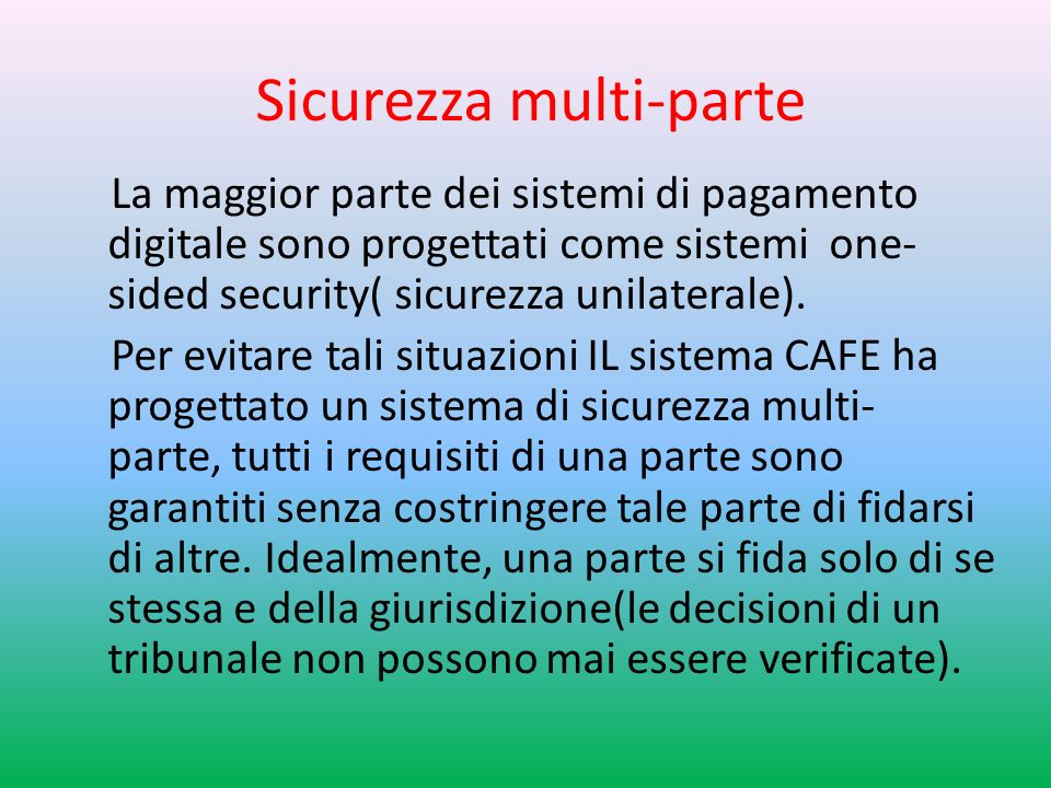 Sicurezza multi-parte