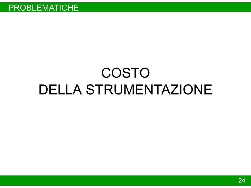 PROBLEMATICHE COSTO DELLA STRUMENTAZIONE 24