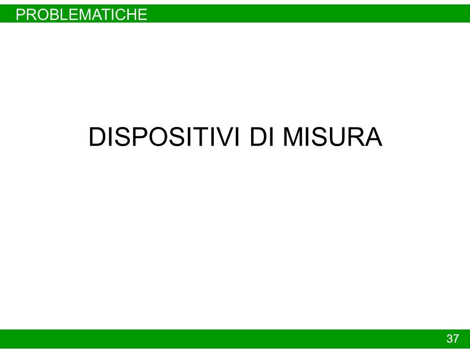 PROBLEMATICHE DISPOSITIVI DI MISURA 37