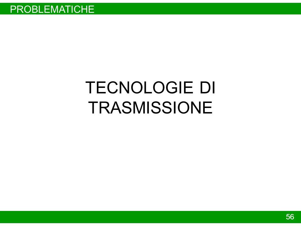 PROBLEMATICHE TECNOLOGIE DI TRASMISSIONE 56