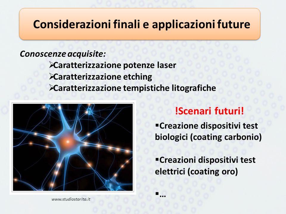 Considerazioni finali e applicazioni future