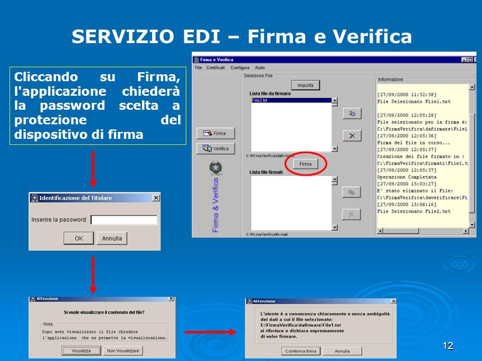 SERVIZIO EDI – Firma e Verifica