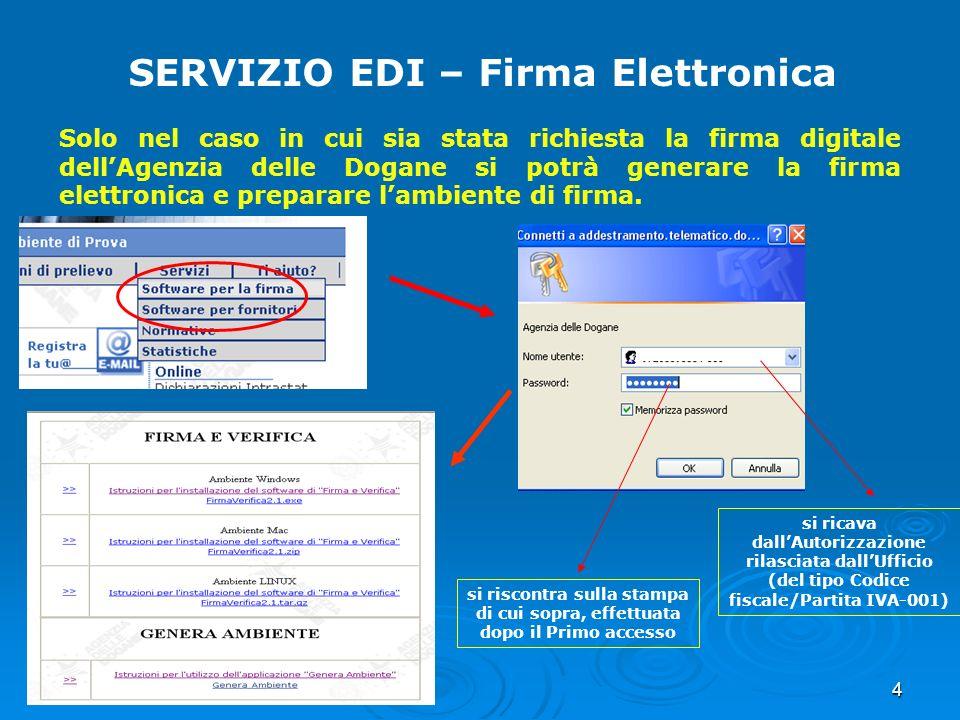 SERVIZIO EDI – Firma Elettronica