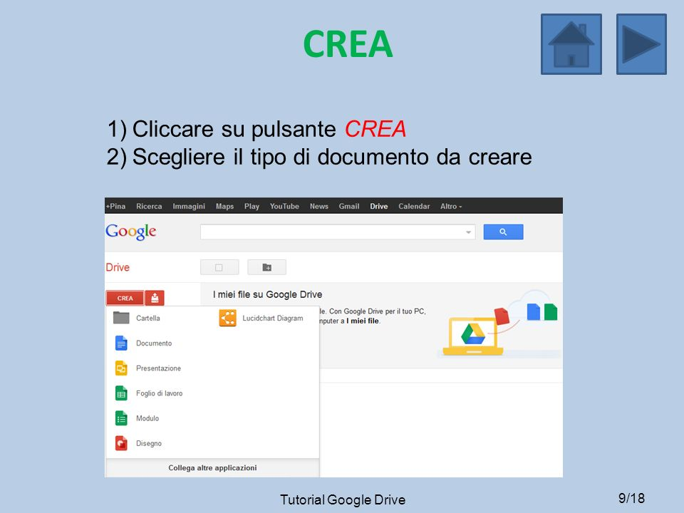 CREA Cliccare su pulsante CREA