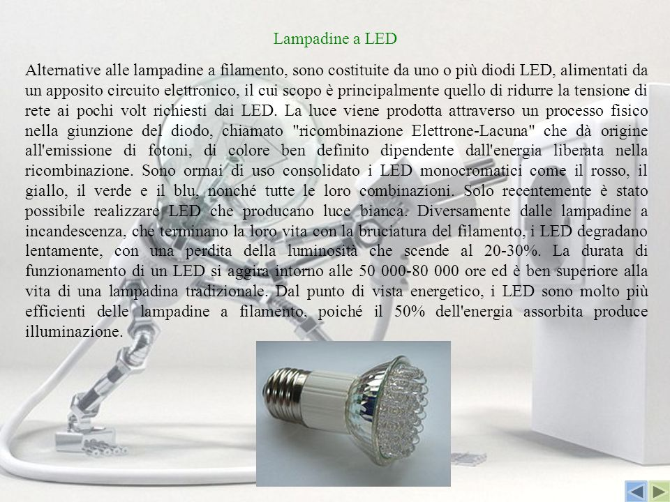 La lampadina elettrica ppt video online scaricare for Lampadine a filamento led