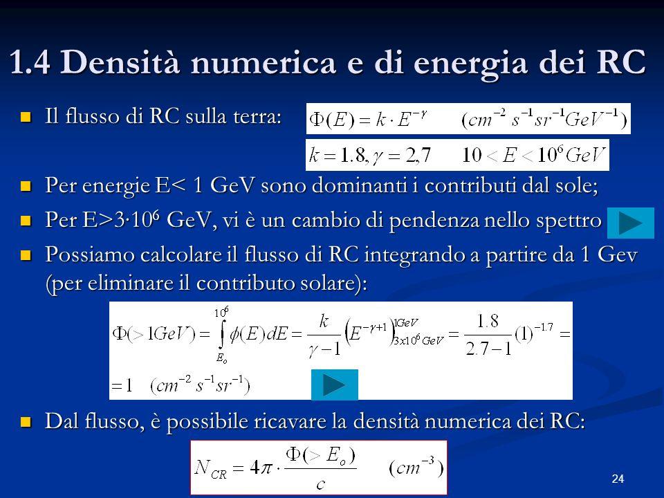 1.4 Densità numerica e di energia dei RC