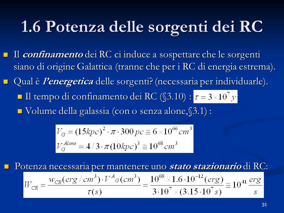 1.6 Potenza delle sorgenti dei RC