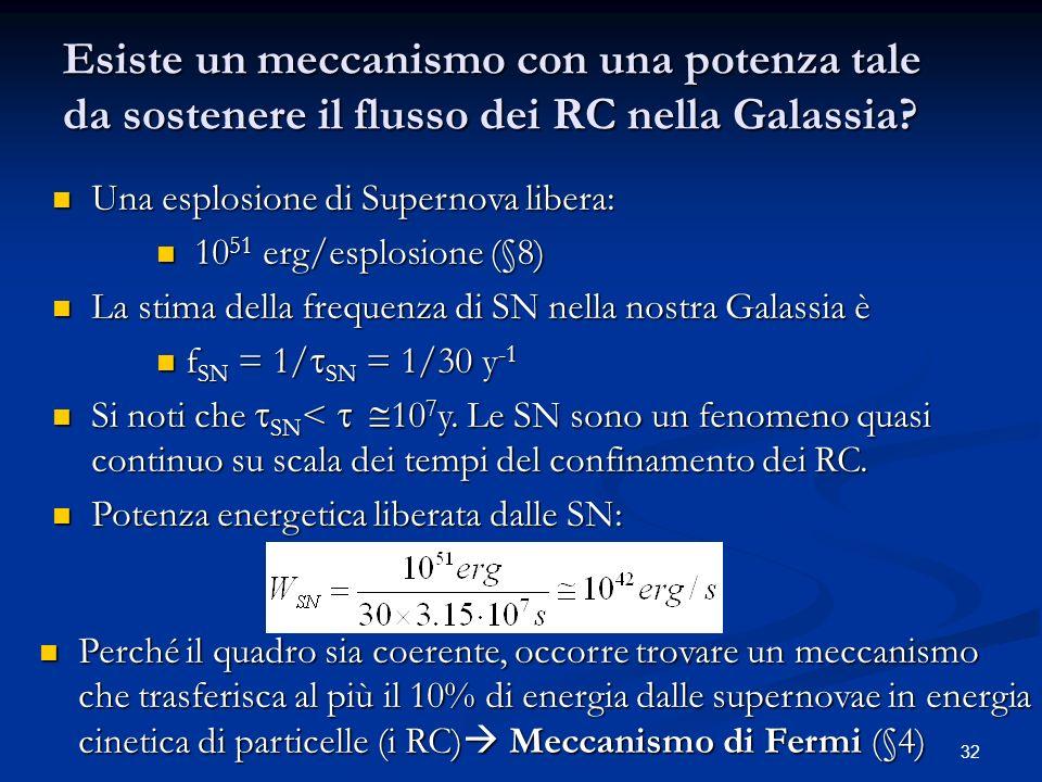 Esiste un meccanismo con una potenza tale da sostenere il flusso dei RC nella Galassia