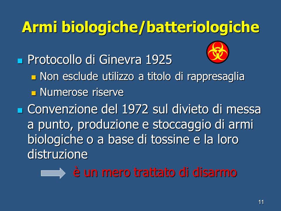 Armi biologiche/batteriologiche