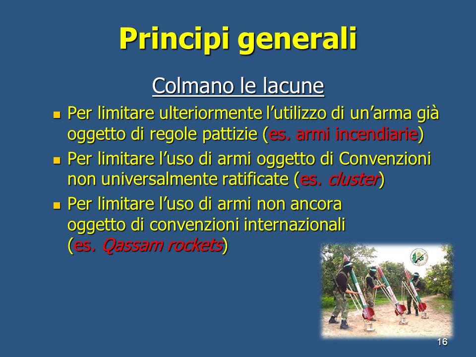 Principi generali Colmano le lacune