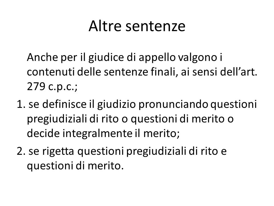 Altre sentenze