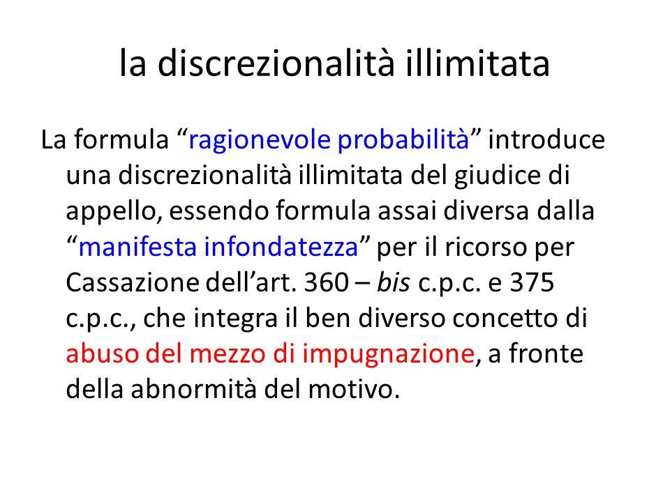 la discrezionalità illimitata