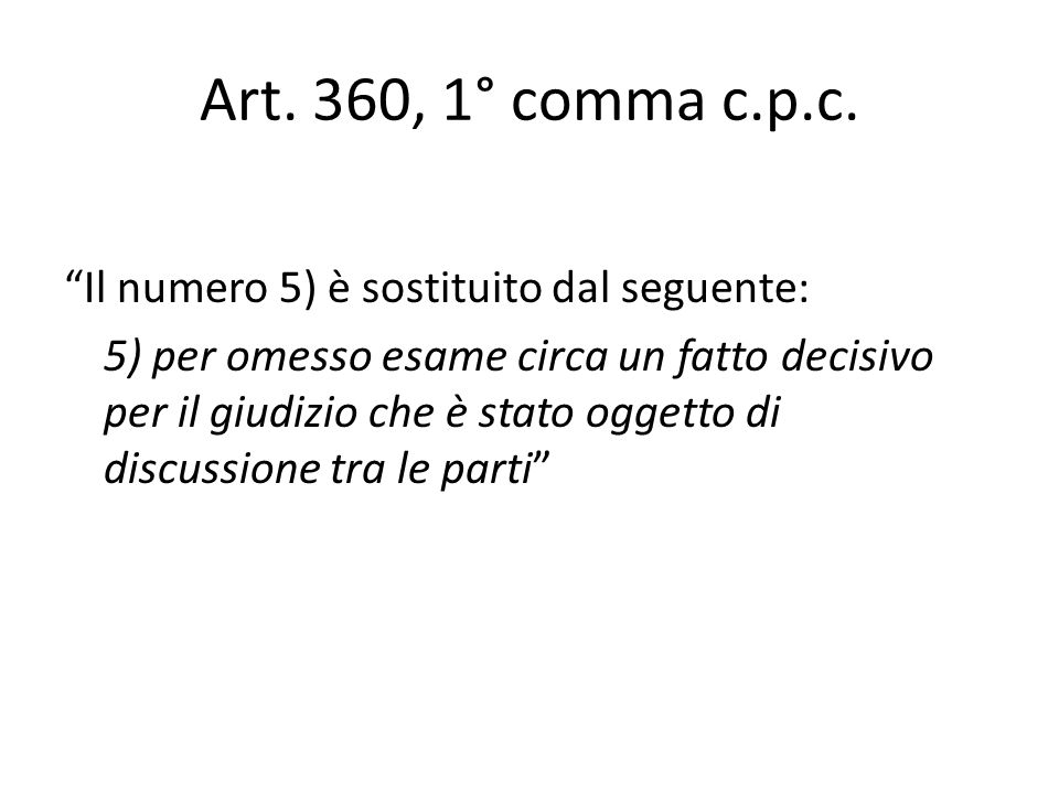 Art. 360, 1° comma c.p.c.