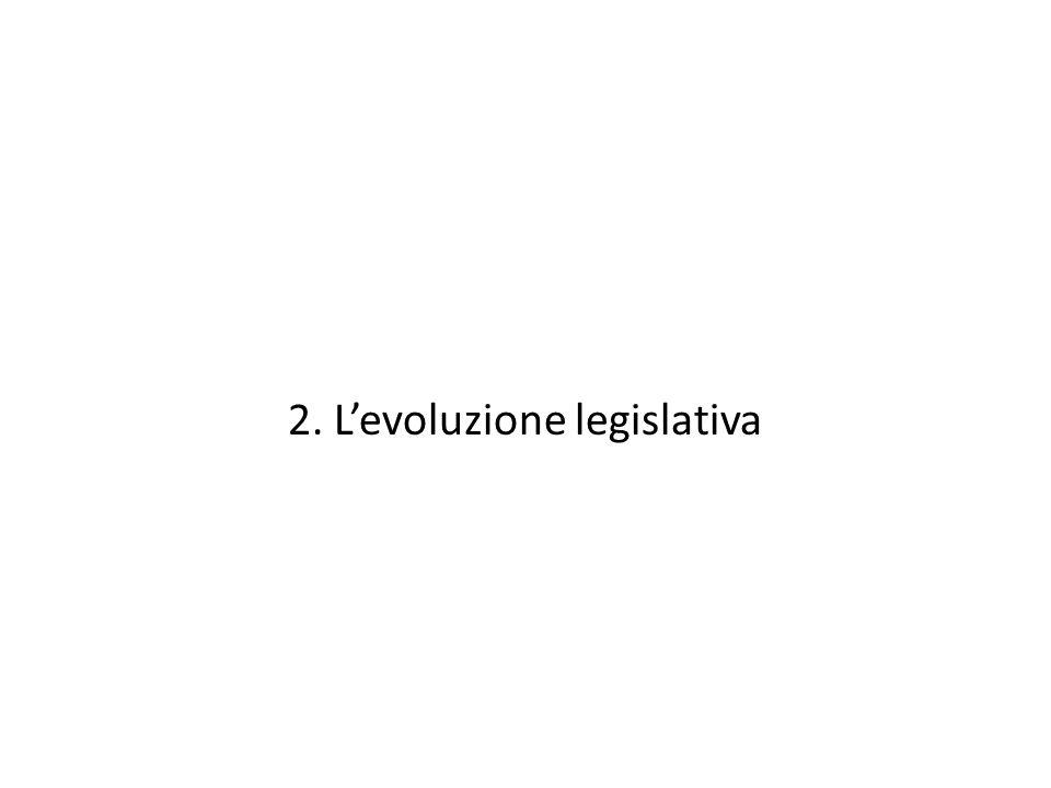 2. L'evoluzione legislativa