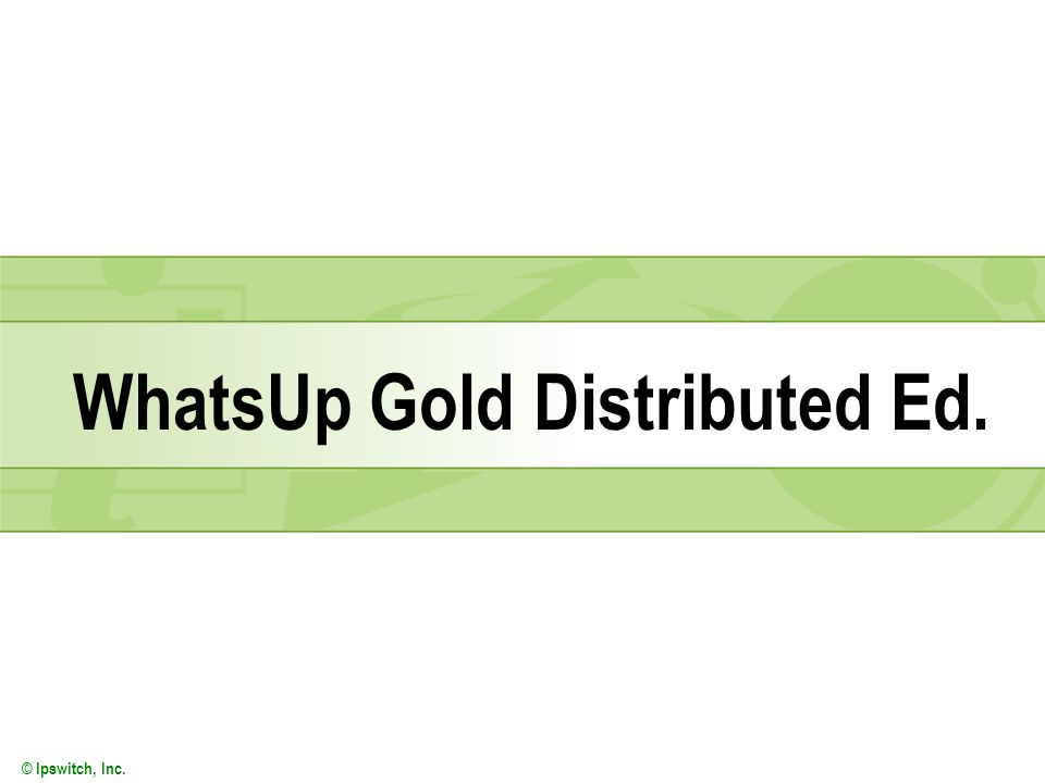 WhatsUp Gold Distributed Ed.