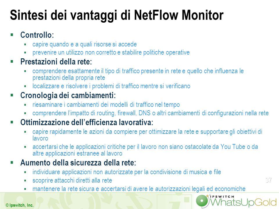 Sintesi dei vantaggi di NetFlow Monitor