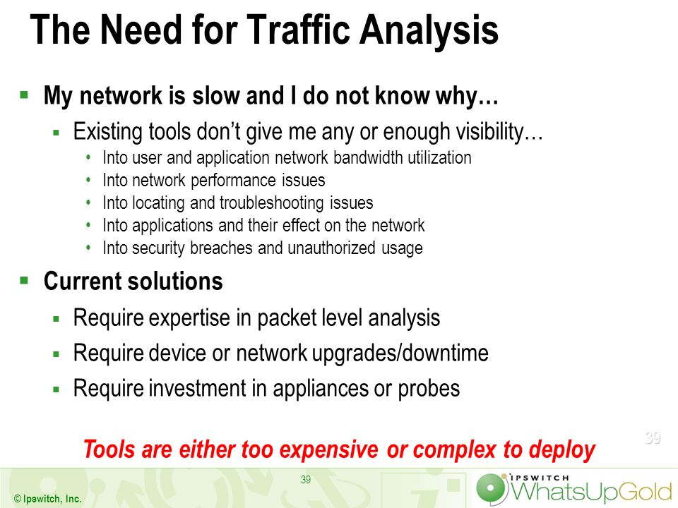 The Need for Traffic Analysis