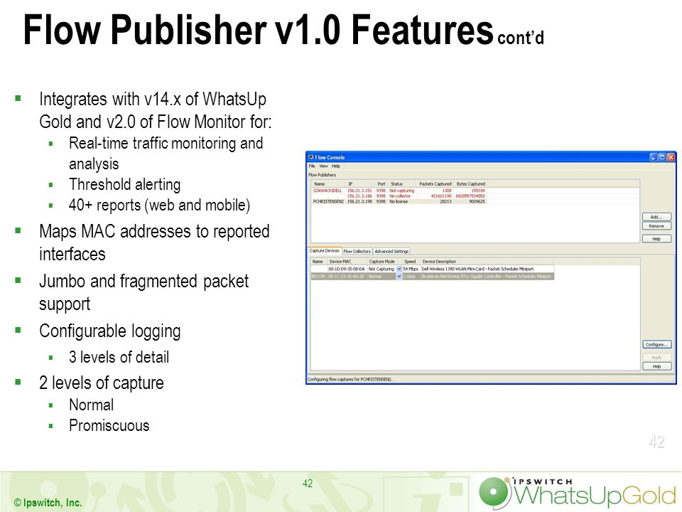 Flow Publisher v1.0 Features cont'd